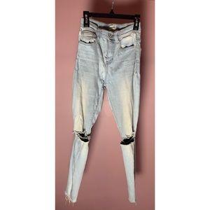 Sneak Peek distressed skinny jeans